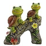 Kunstharz Schildkröten Gartenfiguren Schildkröten Gartendeko Niedlichen Schildkröte Gartenwichtel Wasserfest Schildkröte Figur Tier Dekofiguren Gartendeko Figuren für Außen Rasen Balkon Terrasse Hof