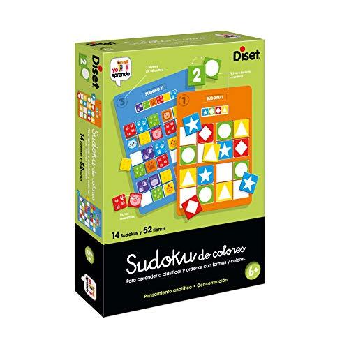 Diset- Sudoku Colors Juego Educativo para Niños, Multicolor (68969)