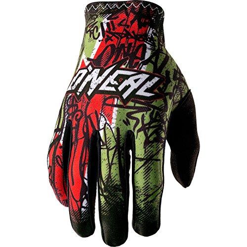 O'Neal Matrix Handschuhe Vandal Grün Rot MX MTB DH Motocross Enduro Offroad, 0388M-4, Größe 2XL
