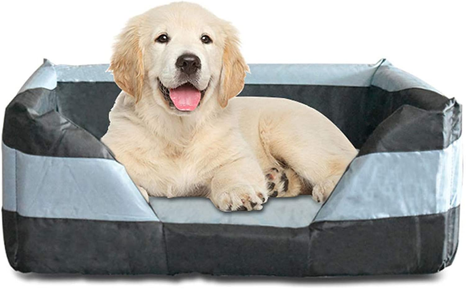 BYCWS Rectangle Pet Bed, Pet Products SelfWarming Lounge Sleeper Pet Bed Cuddler Pet Bed,29.53x21.65x11.02in