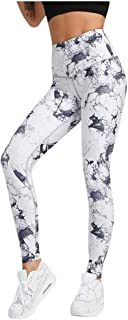 Cimaybeauty Women Print Tight Sport Yoga Pant Hip High Waist Workout Leggings Fitness Sport Tight-Fitting Print High-Elastic Seamless Tight-Fitting Hip High-Waist Yoga Pants