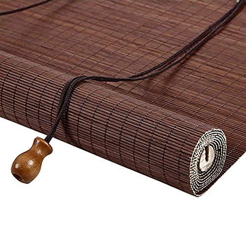L.TSA Cortina Enrollable para Ventana Tipo Cortina, persiana Enrollable de bambú para balcón/Puertas/casa de té, 80 cm / 90 cm / 100 cm / 110 cm / 120 cm / 135 cm de Ancho