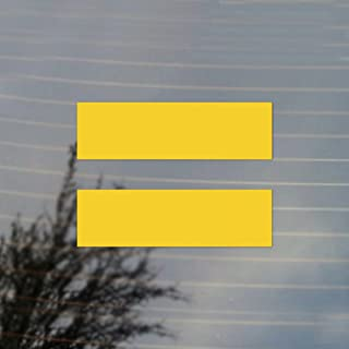 Cosplay & Fan Gear Equality Equal LGBT Sign Pride Vinyl Decal (Sunflower Yellow)