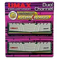 デスクトップ用DDR4 Long-DIMM 8GB ×2枚組 ヒートシンクあり (型番:UM-DDR4D-2400-16GBHS)