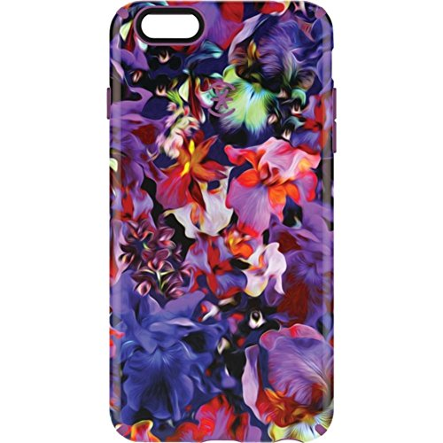 Speck Products CandyShell Inked Case for iPhone 6 Plus/6S Plus, Lush Floral/Beaming Orchid Purple