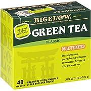 Bigelow Decaffeinated Green Tea Bags, 40 Count Box (Pack of 6) Decaf Green Tea, 240 Tea Bags Total
