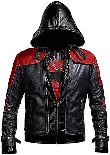Red Hood Batman Arkham Knight Jason Todd Kostüm Hoodie Lederjacke, mehrfarbig, Medium