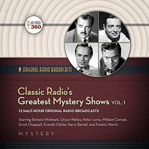 Classic Radio's Greatest Mystery Shows, Vol. 1                   De :                                                                                                                                 Hollywood 360                               Lu par :                                                                                                                                 Richard Widmark,                                                                                        Orson Welles,                                                                                        William Conrad                      Durée : 5 h et 37 min     Pas de notations     Global 0,0