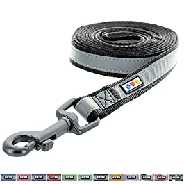 PAWTITAS Reflective Dog Lead with Padded Handle and Leash A perfect Dog Training Lead for Small, Medium and Large Dogs 1.80 M – 6 Ft