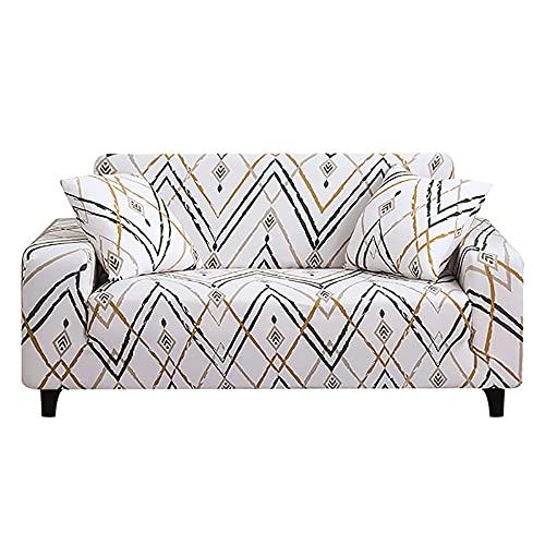 Funda de sofá Cama sin reposabrazos Fundas de Asiento Plegables Funda elástica Protector de sofá Fundas de futón de Banco elástico Moderno A25 4 plazas