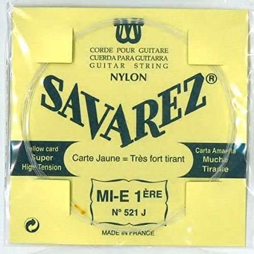Savarez 655821 Saiten Für Klassik-Gitarre Traditional Concert 521J Einzelsaite - E1 High - Passend Zu Satz 520J