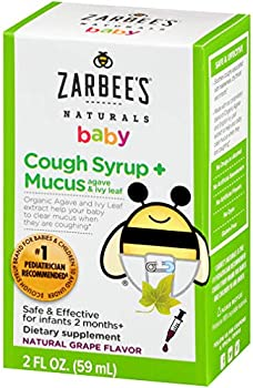 Zarbee's Naturals Baby Mucus Natural Grape Flavor Cough Syrup 2 Oz