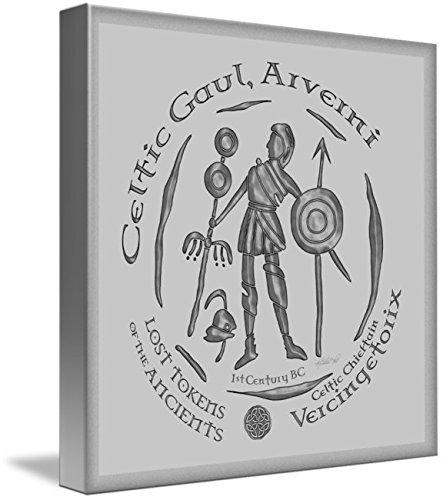 Wall Art Print entitled Celtic Vercingetorix Coin by Kristen Fox