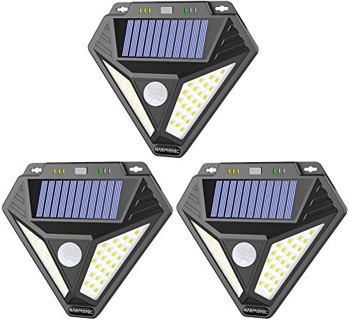 AOBISI Solar Lights Outdoor, Motion Sensor Light with 3 Optional Modes, 270° Wide Angle, IP65 Waterproof Wireless Wall Lights, Solar Powered Security Lights for Front Door, Yard, Garage (3 Pack)