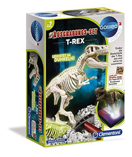 Clementoni 69404 Galileo Science - Ausgrabungs-Set T-Rex, Ausgraben von Dinosaurier-Fossilien mit Hammer & Meißel, für kleine Forscher, Spielzeug für Kinder ab 7 Jahren