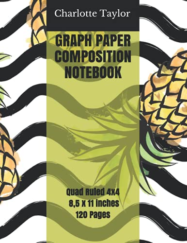GRAPH PAPER COMPOSITION NOTEBOOK: Large Graph Paper Journal - Quad Ruled 4x4 Multi Subject Notebook, 8,5 x 11 inches - Grid Paper Book for Role ... Themed Cover. Perfect for kids or adults!