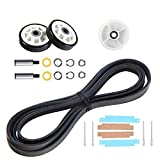 12001541, 303373, 303373K Dryer Drum Roller Kit & 306508 Dryer Tumbler Bearing Kit & 6-3700340 Dryer Idler Pulley & WP33002535 Dryer Drum Belt Replacement for maytag, kenmore, crosley Clothes Dryer