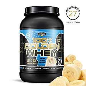 Maxler 100% Golden Whey Protein – 24g of Premium Whey Protein Powder per Serving – Pre, Post & Intra Workout Recovery – Fast-Absorbing Whey Hydrolysate, Isolate & Concentrate Blend – Cappuccino 2 lbs