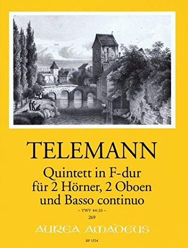 TELEMANN - Quinteto en Fa Mayor (TWV:44/10) para 2 Trompas,