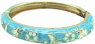 Children Girls Bangles Golden Butterfly Flower Enamel 2.04'' Spring Cuff Jewelry Box Indian Bracelet 55D12