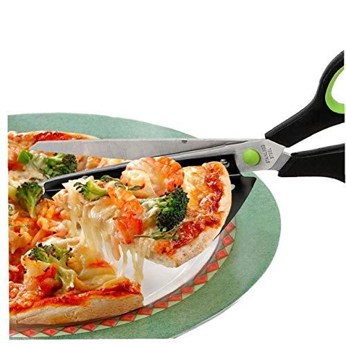 TOSSPER Tijeras De Pizza, De Acero Inoxidable Tijeras De Cocina con La Pizza Pala Desmontable, Multi-función De Cocina Gadget