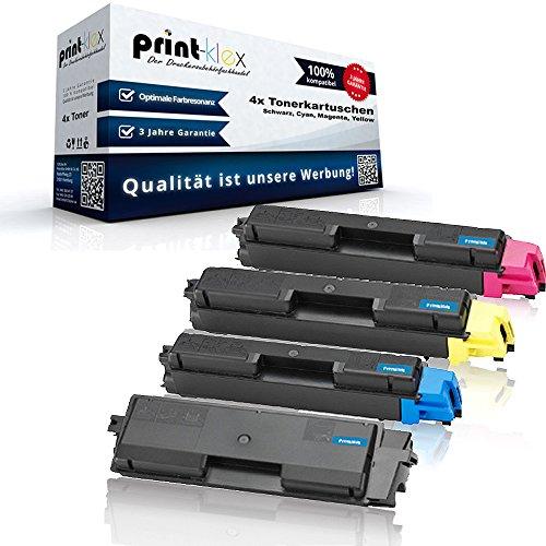 Print-Klex 4x Kompatible Tonerkartuschen für Kyocera TASKAlfa 260Series 265ci 266ci TK5135 TK 5135 TK 5135K TK5135K TK-5135 K Schwarz Blau Rot Gelb - Office Print Serie