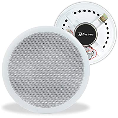 "Power Dynamics 100V Line 8"" Restaurant Office Bar Shop White Ceiling Speaker"