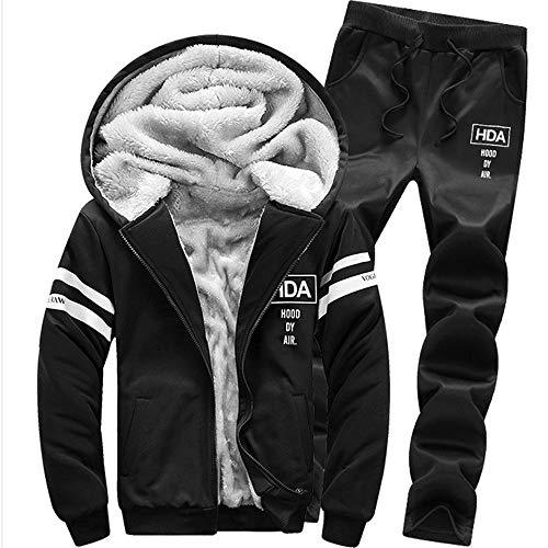 Realdo Men's Athletic Tracksuit Set Warm Running Jogging Sportwear Sweat Suit