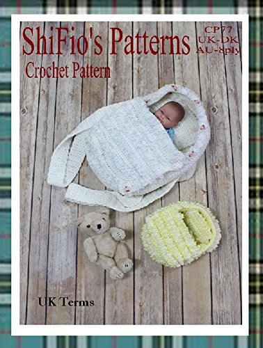 Crochet Pattern - CP77 - Crochet Carrycot for Doll - UK Terminology