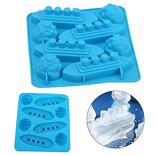 Titanic - Vassoio per cubetti di ghiaccio, vassoio per cubetti di ghiaccio, stampo per cioccolatini congelati, in silicone, strumento fai da te