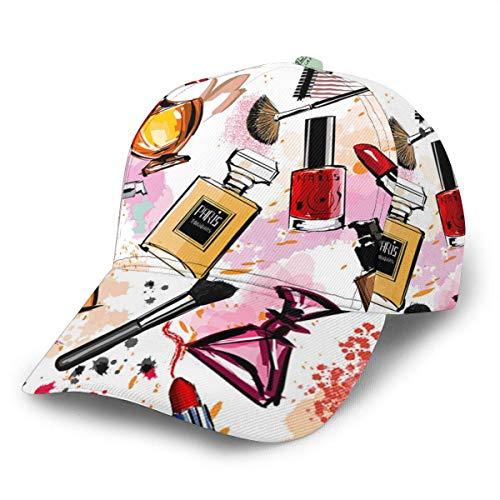 Baseball Hat Maquillaje Cosmético Perfume Lápiz Labial Verano Colorida Niña Impreso Snapback Hat Hip Hop Dad Hat Gorra De Béisbol Unisex Boy Trucker Hat Snapback Cap