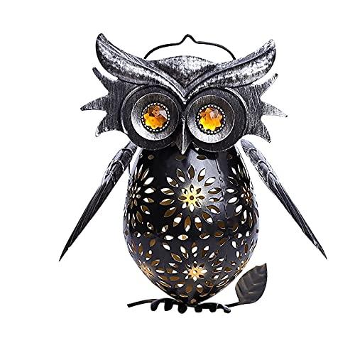 Eule Solar Laterne Lichter Außen Vogel LED Hängende Dekoration für Garten Hof