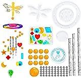 Kit de moldes de campanillas de viento de resina, llavero, moldes de fundición de epoxi de silicona para manualidades que hacen campanas de viento, decoraciones para el hogar al aire libre A