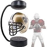 Mini casco de fútbol americano,casco flotante NFL de rotación de 360 ° coleccionable,soporte de exhibición con iluminación LED para fanáticos de los deportes de rugby,mesa de café para niños,oficina