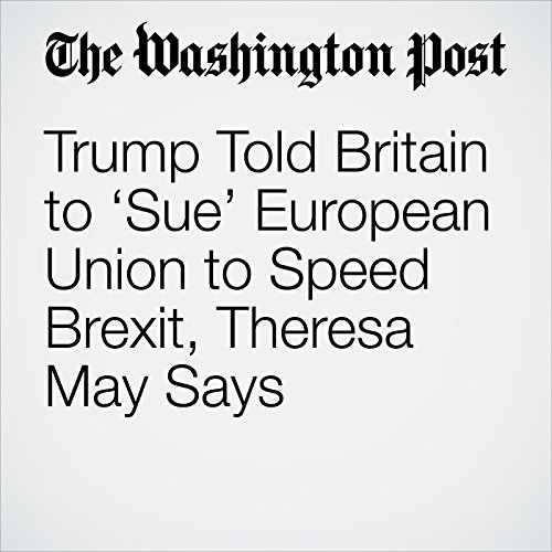 Trump Told Britain to 'Sue' European Union to Speed Brexit, Theresa May Says copertina