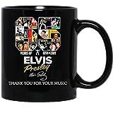 N\A Seeds Tee Grazie per la Tua Musica 65 Anni di Elvis-Presley Music Singer Mug Cup Tazze da caffè Tazze da tè