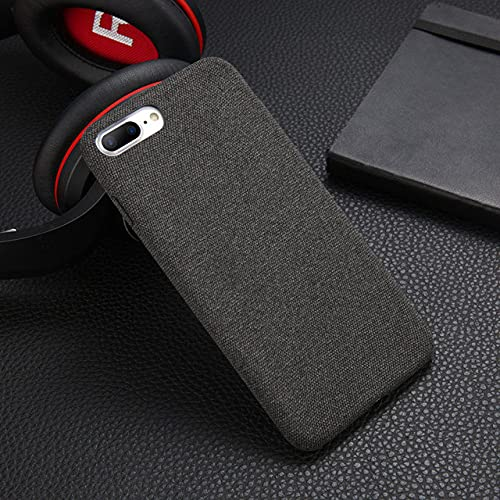 Plush Fabrics Phone Case para iPhone 11 12 Pro X XS MAX XR 8 7 6s Plus SE2020 Warm Fashion Soft PU Ultra Delgada Contraportada, Gris Oscuro, para iPhone XS MAX