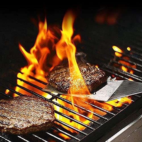 51y+sM9lQ5S. SL500  - Spatel-Set Grillzubehör BBQ Tool Kit - Hochleistungs-Edelstahl-Spatel-Grill-Set in professioneller Qualität - ideal zum Kochen von Camping und Heckklappen
