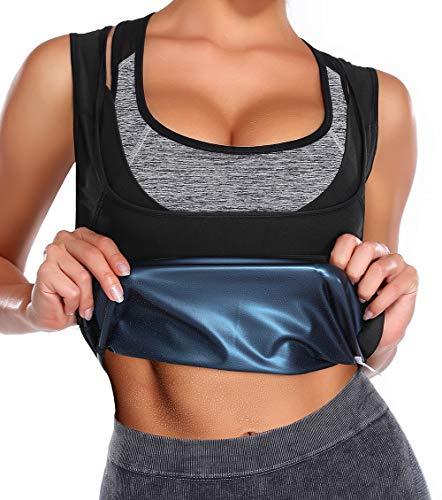 KIWI RATA Chaleco Sauna Faja Reductora Mujer Premium Polímero Compresión Cómoda Camiseta Térmica para Sudoración Deporte Fitness