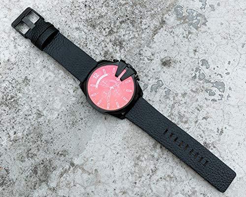 HengBO Der Marken-Männer der ursprünglichen Gezeiten-Uhr hip hop großes Vorwahlknopf-Farbenspiegel-Rotlichtmänner Watch-4