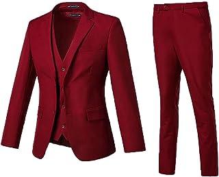 High-End Suits 3 Pieces Men Suit Set Slim Fit Groomsmen/Prom Suit for Men Two Buttons Business Casual Suit