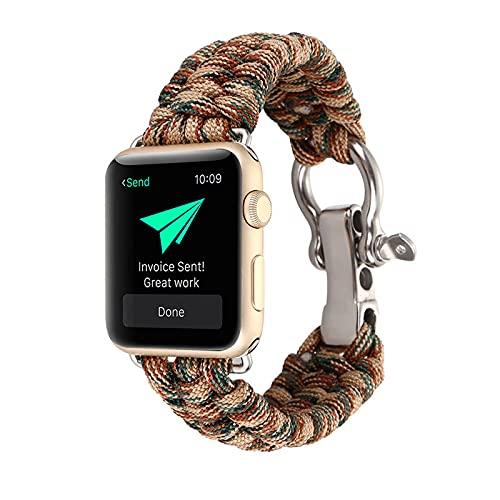 KAEGREEL Correa elástica Solo Loop Compatible con Apple Watch Band 44 mm 38 mm, Correa de Repuesto de Nailon Deportivo Suave Compatible con iWatch Series 6/5/4/3/2/1 / SE,42mm/44mm