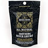 Bucklebury Soothing Natural Silver Lozenge - Soothing Support with Organic Honey, Real Lemon Oil, Triple Strength Silver 30ppm - 20 Lozenge