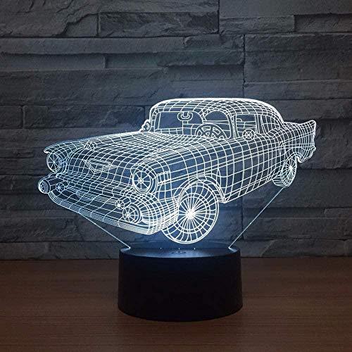 Lonfencr Coche Colorida lámpara 3D Dormitorio Cama led luz de Noche Creativa Nueva visión Elegante luz 3D Decoraciones navideñas