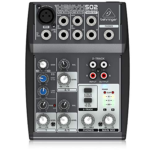 Behringer Xenyx 502 Premium 5-Input 2-Bus Mixer with XENYX Mic Preamp and British EQ. Buy it now for 58.99