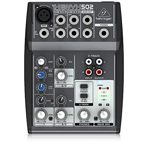 Behringer XENYX 502 Mixer premium a 5 ingressi e 2 bus con preamplificatore microfonico EQ britannico