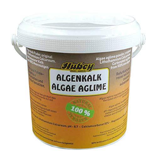 Hubey Algenkalk 1 kg in Bio-Qualität I Natürlicher Bodenaktivator I Gartenkalk für gesunde Pflanzen I Stark gegen Buchsbaumzünsler