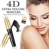 4D Máscara pestañas postizas con efecto voluminizador, pestañas más largas y gruesas, resistente al agua, sin...