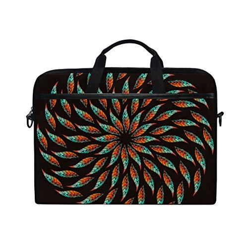 LOSNINA 15-15.4 inch Laptop Tasche,Helle Hintergrundbild Ölfarben bunt,Neue Leinwand Drucken Muster Aktentasche Laptop Schulter Messenger Handtasche Case Sleeve