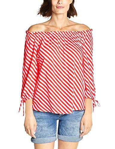 Street One Damen 341580 Odetta Bluse, Bright Coral, (Herstellergröße:36)